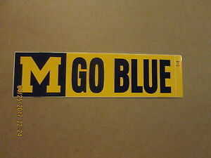 NCAA Michigan Wolverines Bumper Sticker