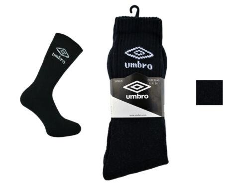 3 Pairs Mens Umbro Quarter Casual Cotton Sports Socks Black White  Size 6-11