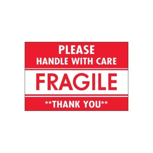"""/""""/""""Fragile Handle With Care/""""/"""" 500//Roll/"""" 2/""""/"""" x 3/""""/"""" /""""Tape Logic Labels"""