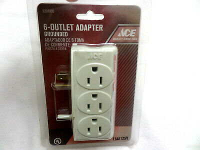 LOT of 1x 2x 4x Grounded 6 Outlet Wall Tap Plug Adapter