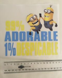 Iron on Patch Despicable Me Minions 8.5cm x 12.5cm Sew Applique Embroidered