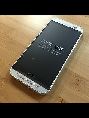 "HTC One M8 BRAND NEW Silver / White 5"" FACTORY UNLOCKED SIM GSM 32GB Dual 4 MP"