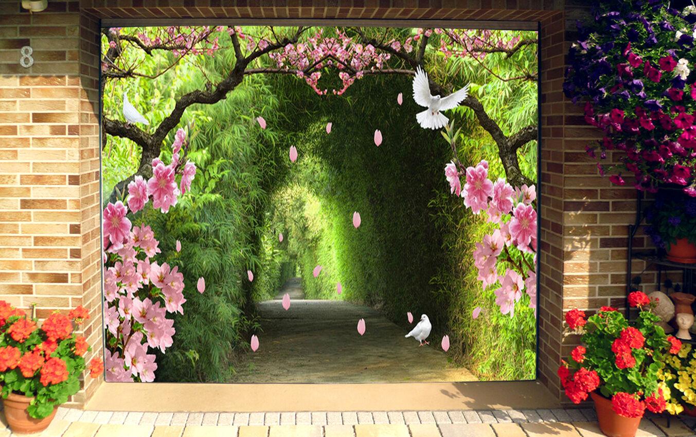 3D Flower Shrub 7 Garage Door Murals Wall Print Decal Wall AJ WALLPAPER UK Carly