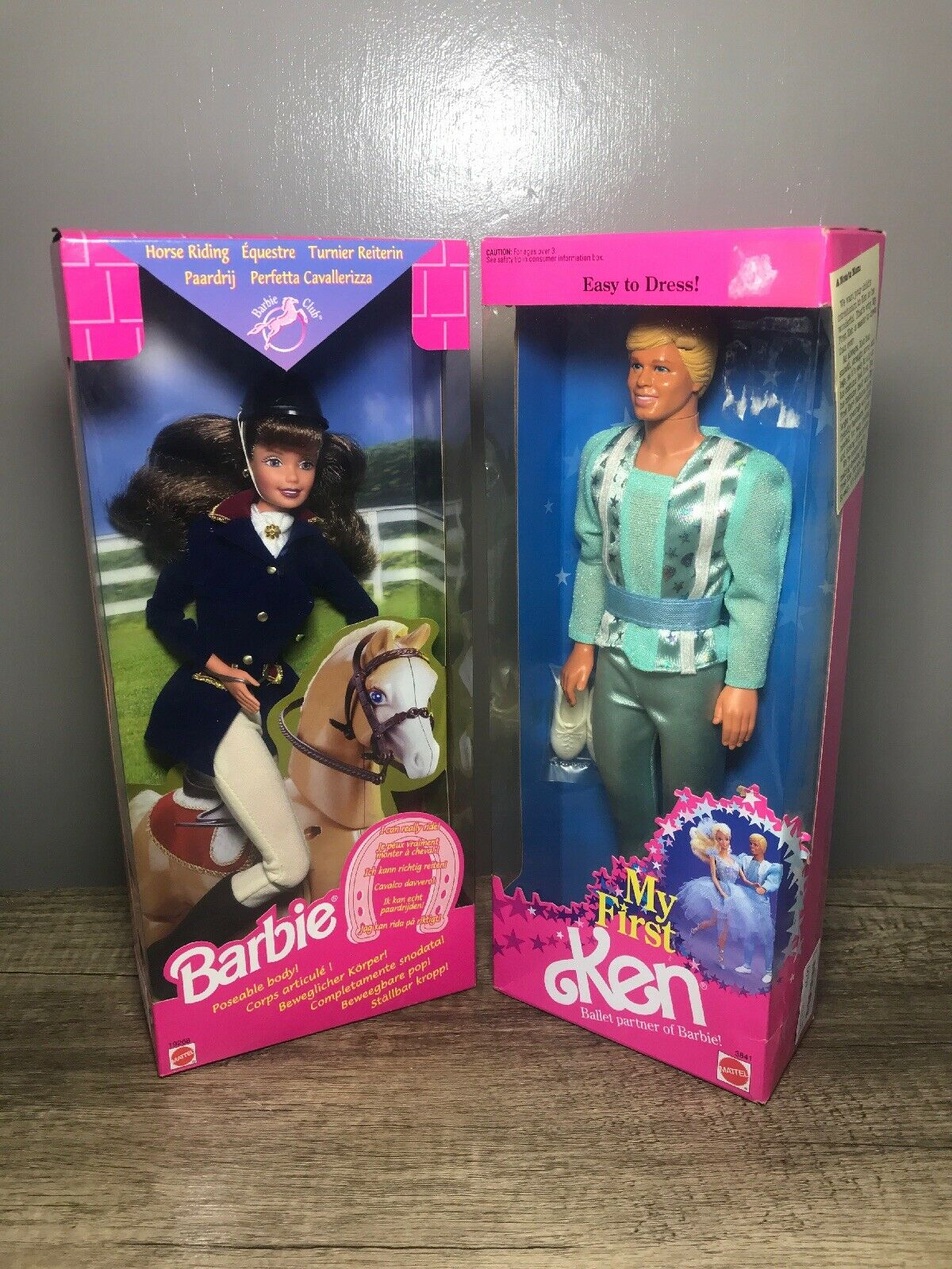Mattel Horse Riding Barbie And My First Easy Dress Ballet Partner Ken Doll New