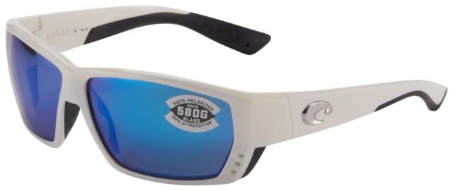 b76a2d0b7d8 Costa Del Mar Tuna Alley Sunglasses White Frame Blue Mirror 580g TA25OBMGLP
