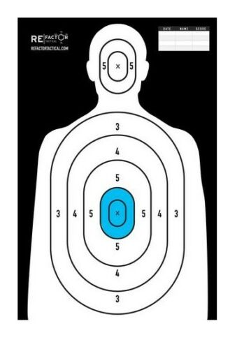 RE Factor Tactical Targets-10 Pack-Kill Zone-Essentials-IQ-Blue Man-Ice Man