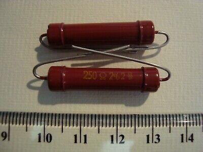 2 piece Siemens Halske Klangfilm NOS Karbowid resistor 550Ω 2/% 2W