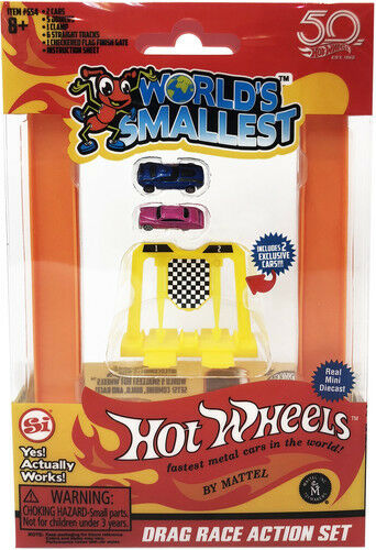 World/'s Smallest New Toy Hot Wheels Mini World Drag Race Set Includes 2 Cars
