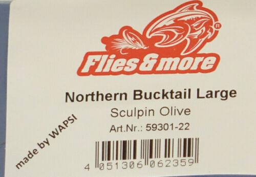 neue Farben CREAM Bucktail Northern Large Wapsi U.S.A