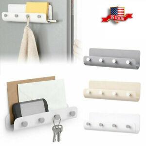 Key-Rack-Holder-Wall-Mount-Letter-Organizer-4-Hooks-Keychain-Hanger-Home-Storage