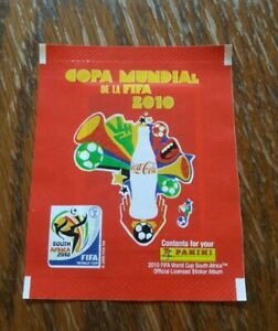 Panini-coupe-du-monde-2010-1-Sac-Coca-Cola-Packet-Pack-Bustina-Amerique-du-Sud-WC-10