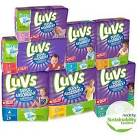 Luvs Super Absorbent Leakguards Diapers. Size 1/2/3/4/5/6/newborn.