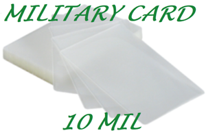 100-Military-Card-Laminating-Pouches-Laminator-2-5-8-x-3-7-8-10-Mil-Quality