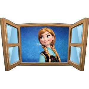 Sticker enfant fenêtre La Reine des Neiges réf 1000 1000