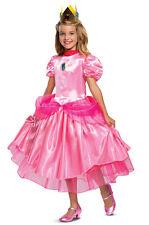Disguise Super Mario Princess Peach Deluxe Child Girls Halloween Costume 73699