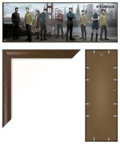 INTO DARKNESS FRAMED DOOR MOVIE POSTER STAR TREK KHAN /& ENTERPRISE CREW