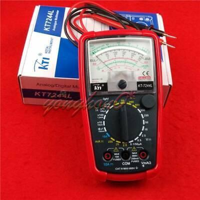 KT7244L High Sensitivity AC//DC Voltage Current Meter Pointer Analog Multimeter