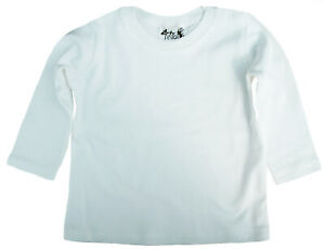 SALE-ITEM-5-pack-of-Baby-Long-Sleeve-Cotton-Tops-in-White-Size-2-3-Years