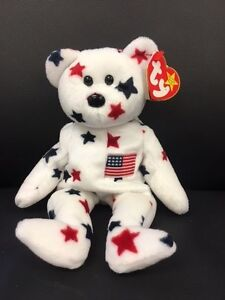 ac2bacc0ad5 Image is loading TY-Beanie-Baby-Rare-Glory-Red-White-and-