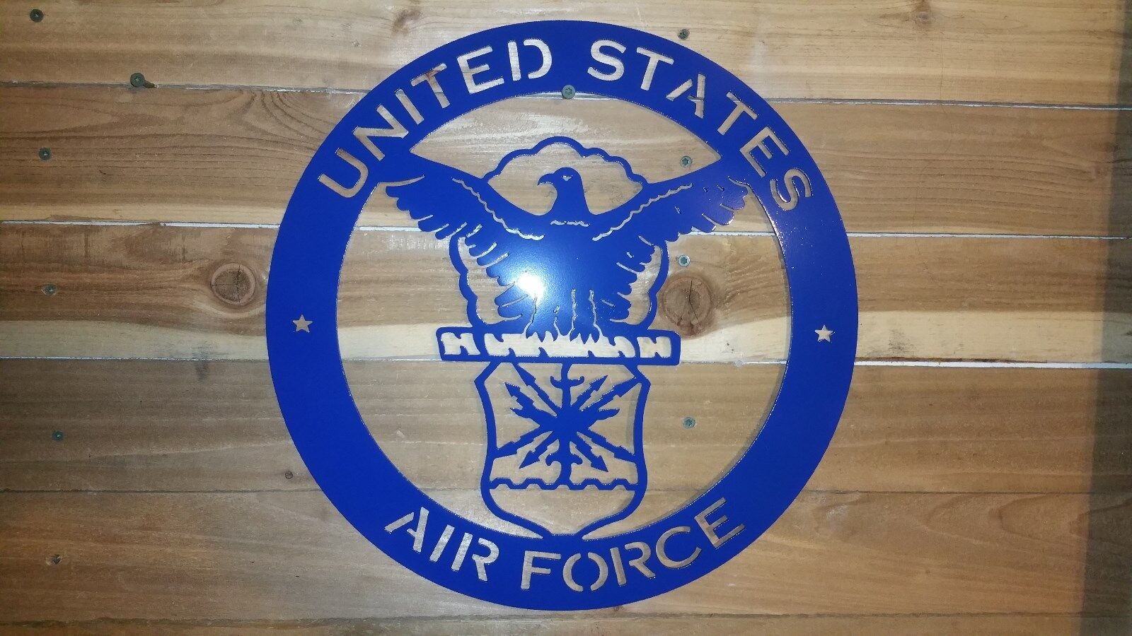 UNITED STATES AIR FORCE  Metal Sign, 16 inch Hand Made in Waco Texas