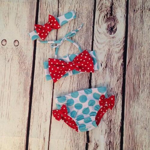 US Stock Toddler Kids Baby Girl Bikini Set Swimwear Swimsuit Bathing Suit Summer