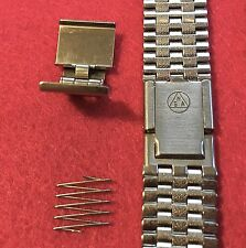 Ladies NSA watch bracelet steel complete clasp for 5-row links NSA band 1960/70s