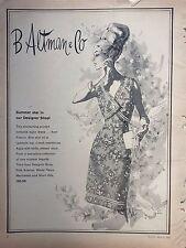 1965 B Altman Co Clothing Summer Star In Designer Shop Textured Rayon Dress Ad