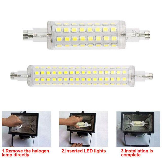 Dimmable LED 8//12W R7S Flood Light Corn Bulb Replace Halogen 78MM 118MM COB Lamp