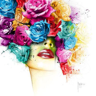 Patrice Murciano: La Vie en Rose Fertig-Bild 70x70 Wandbild bunt Frau modern Pop