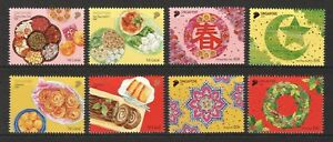 SINGAPORE-2018-FESTIVALS-amp-FOODS-COMP-SET-OF-8-STAMPS-MINT-MNH-UNUSED-CONDITION