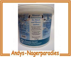 6kg  Dr. Ponsold Mineralfutter für Brieftauben und Rassetauben