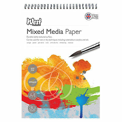 Faber Castell Pads A4 Creative Studio Mixed Media Pad 250gsm 30 Sheets