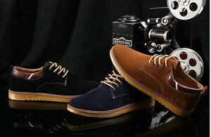 NEW-Suede-European-style-leather-Shoes-Men-039-s-oxfords-Casual-Fashion