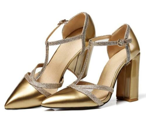 Spring Fashion Ladies Synthetic Pointed Toe Block Heel Multi-colored Light Pumps