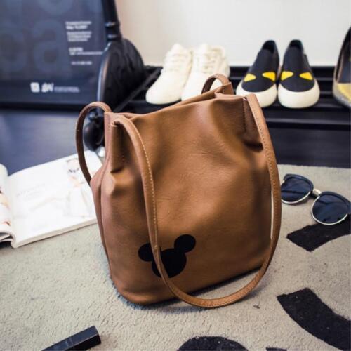 Mickey Mouse Handbag Printed Mickey Bucket Bag For Women Bags Fashion 2018