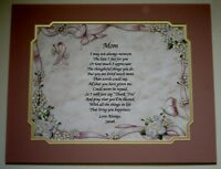 Personalized Poem For Mom For Mother's Days Or Just Because 3 To Choose From