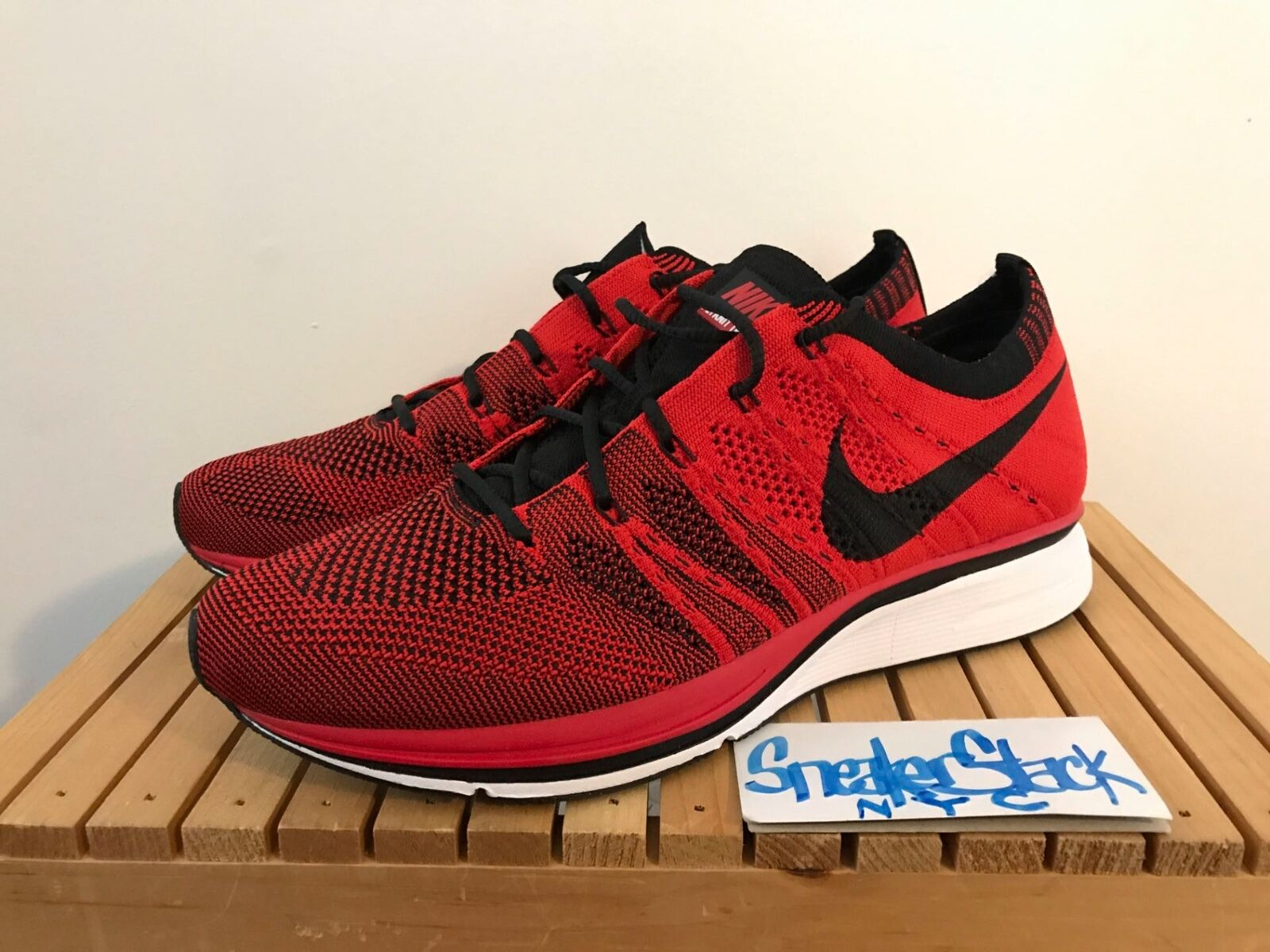 2012 Nike Flyknit Trainer University Red Olympic Trials 1/400 Mens US Sz 8 RARE