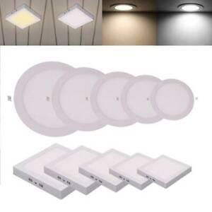 10 x LED Einbaustrahler Einbaupanel Deckenleuchte Panel Spot Light Rund Eckig