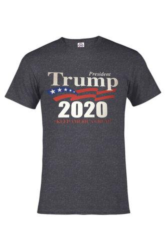 TRUMP 2020 T-shirt Heather Colors KEEP AMERICA GREAT POLITICAL,TRUMP NICE S-4XL