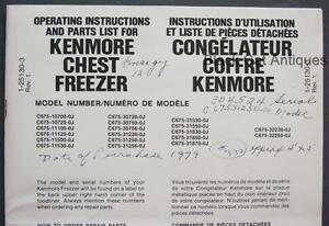 kenmore chest freezer owner manual