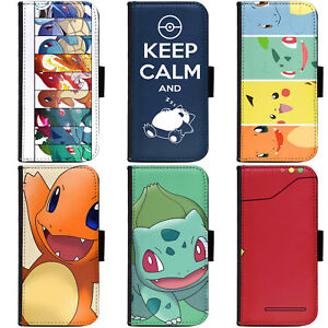 PIN-1-Game-Pokemon-3-Phone-Wallet-Flip-Case-Cover-for-Huawei