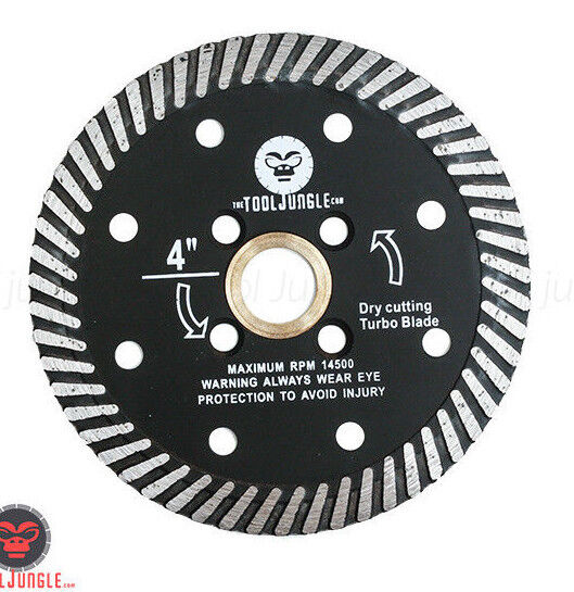4 Inch Diamond Blade Turbo for Cutting Granite Stone Marble Concrete Masonry