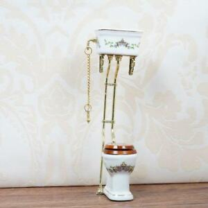 1:12 Dollhouse Miniature Furniture Bathroom Toilet Porcelain Closestool Supply