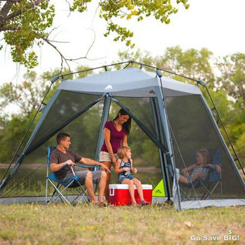 Ozark Trail Instant Tent Canopy 4 Person 10x10' Outdoor Screened Camping Shelter