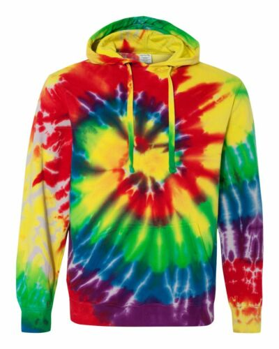 Dyenomite Classic Michelangelo Spiral Rainbow Swirl Pullover Hooded  854MS