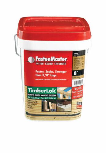 10 x 8 in L Hex Epoxy Wood Screws 250 pk FastenMaster TimberLok No