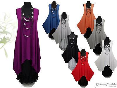 PoCo LAGENLOOK Tunika Long-Shirt 44 46 48 50 52 54 56 58 L-XL-XXL-XXXL weiß grau
