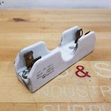 Union 388 424 1 Pole Ceramic Fuse Holder 30a 600v Used