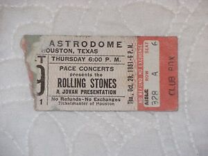 Image Is Loading Rolling Stones 1981 Concert Ticket Stub With ZZ
