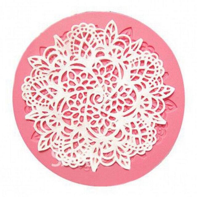 Lace Silicone Mold Mould Sugar Craft Fondant Mat Cake Decorating Baking E&TB